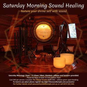 Saturday Morning Sound Healing @ The Sound Temple
