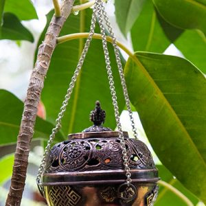 Hanging/Standing Metal Incense Censer
