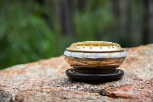Incense Burner for Resin with MOP Inlay and Coaster