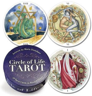 Circle Of Life Tarot Deck 78 Tarot Cards in Round Shape